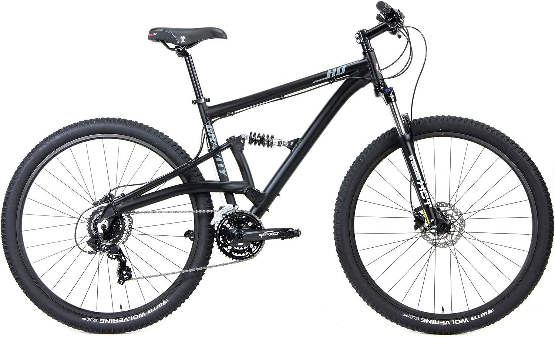 Gravity FSX 29 HD 1 デュアルサスペンション マウンテンバイク シマノ 24スピード マットブラック 15 inch = Small   fits* 5'6\