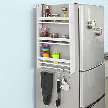 SoBuy FRG150-W Hängeregal für Kühlschrank mit 5 Haken, Türregal ...