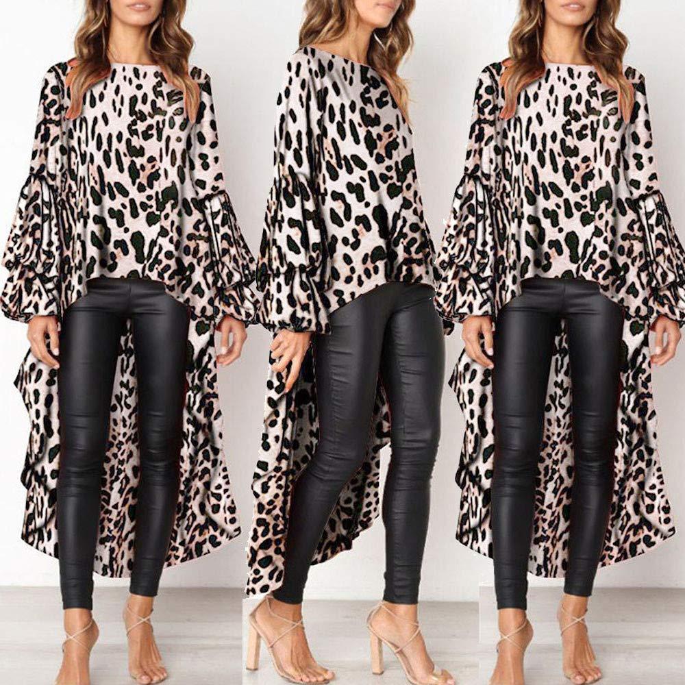 Autumn Irregular Ruffles Shirt Long Lantern Sleeve Long Tops Shirt Limsea Blouse for Women