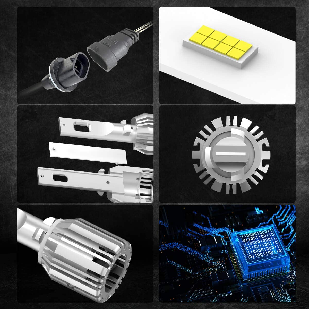LASFIT 880 881 896 886 LED fog light bulbs 6000K Cool White 892 893 894 898 899 885 LED Fog Lamp Super Bright 50W New Gen LC Plus Plug and Play