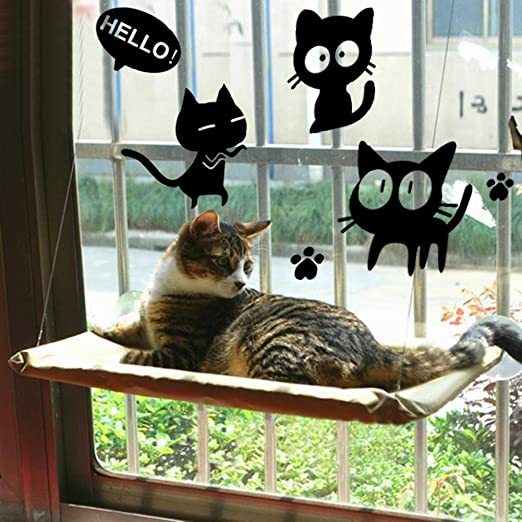 Gato Hamaca de Ventana / Percha de Ventana para Baño de sol, COUTUDI Cómodo Descansando Cama de Dormir para Gran Gato Kitty de Hasta 33 lb: Amazon.es: ...