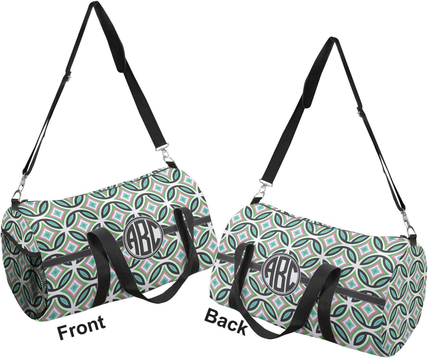 YouCustomizeIt Geometric Circles Duffel Bag Personalized
