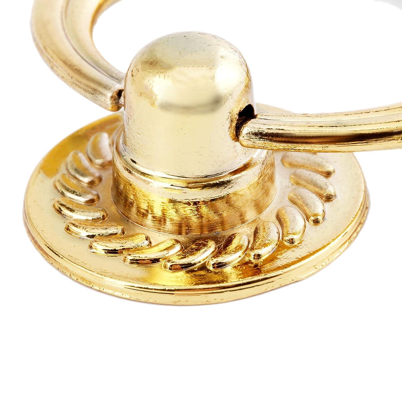 Gold Moderner Zink Legierung zittrigen Drop Ringe M/öbel Griffe T/ür Holz Stuhl Sofas Pull