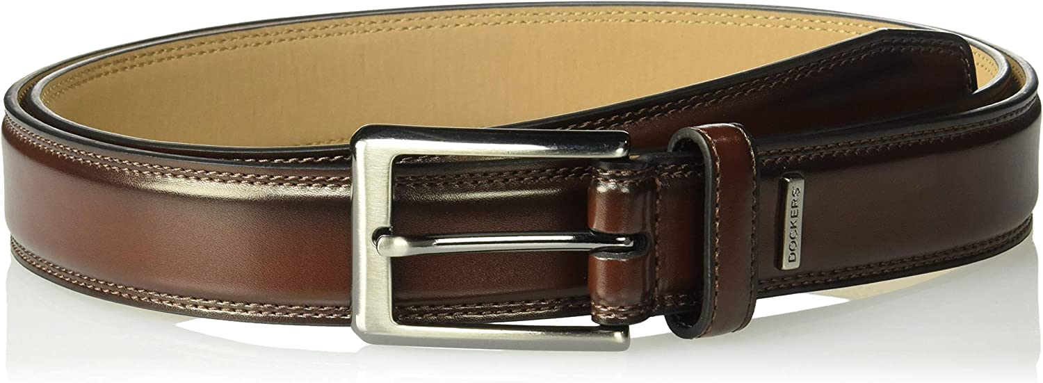 Dockers Mens 1 1//4 in Belt with Branded Ornament