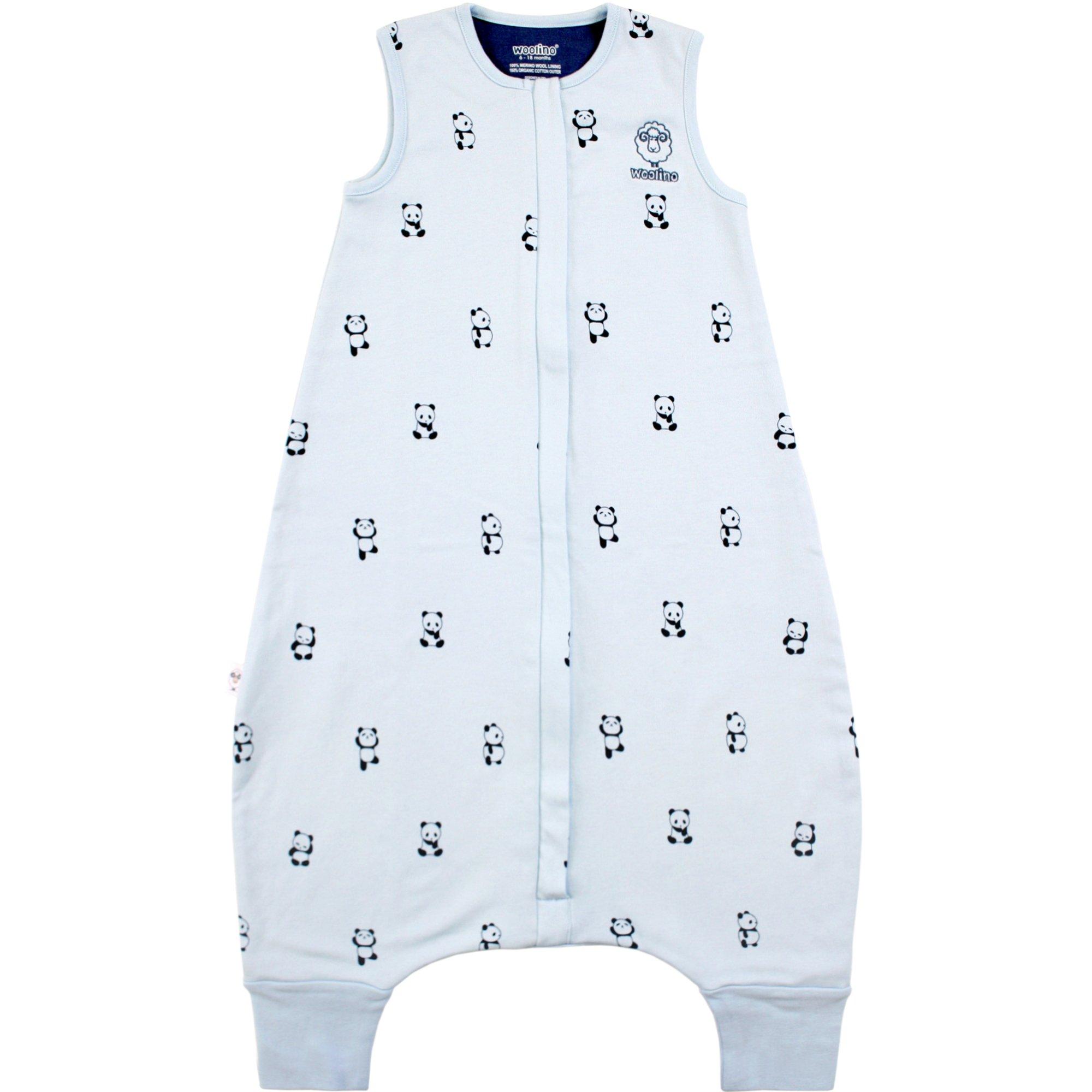 Woolino 4 Season Baby Sleep Bag with feet, Australian Merino Wool, 6-18m, Panda by Woolino