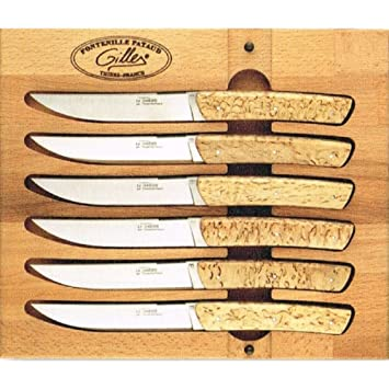 Juego de 6 cuchillos de mesa Le Thiers mango madera de ...