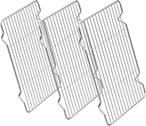 Cooling Rack Pack of 3, Stainless Steel cooking Rack for Cooling Baking Roasting Grilling Drying, Rectangle 9.7 x 7.5x 0.5 Inch, Fits Small Toaster Oven, Oven & Dishwasher Safe By Zacfton