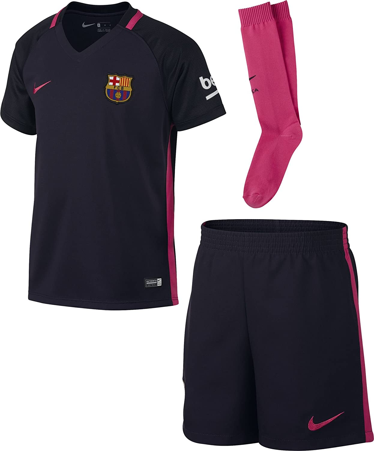 2016-2017 Barcelona Away Nike Little Boys Mini Kit B007TARHGOPurple SB 4/5yrs (104-110cm)