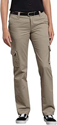 Dickies Womens Relaxed Fit Stretch Cargo Straight Leg Pant Work Utility Pants
