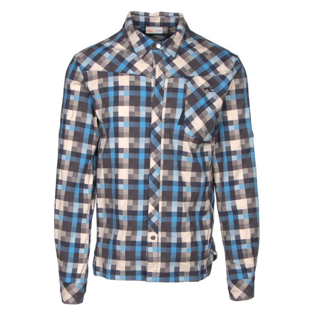 KJUS Herren Flanellhemd Funktionsshirt Men FRX Shirt MS25-A12 blau