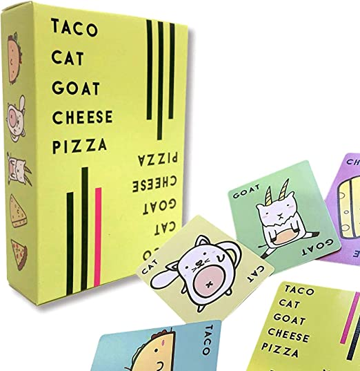 Yolanda Medina Taco Cat Goat Cheese Pizza Party Games, Interactive Card Party Family Game Puzzle Card Game for Kids Diversión Juegos: Amazon.es: Hogar