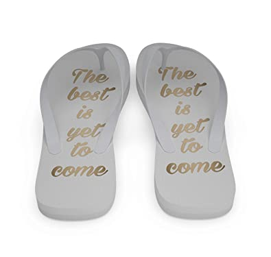 35f76ac20 Wedding Flip Flops - The Best is Yet to Come (12 Pairs) White ...