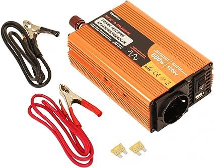 Volt Convertisseur de tension du véhicule 24V//230V//500W voiture voyager