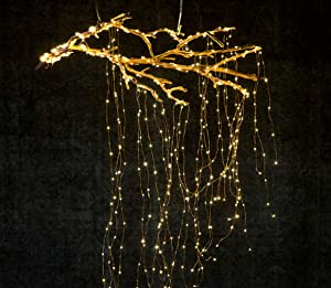 Lxcom Branch Lights Fairy String Lights 6.56Ft 280leds 14 Strands Firefly String Lights Branch Lights Decoration for Garden Home Party Wedding Festival Decorations Crafting US Plug Lights(Warm White)