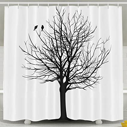 Amazoncom Nnhky Shower Curtain Fabric For Bathroom 60 X 72 Trees