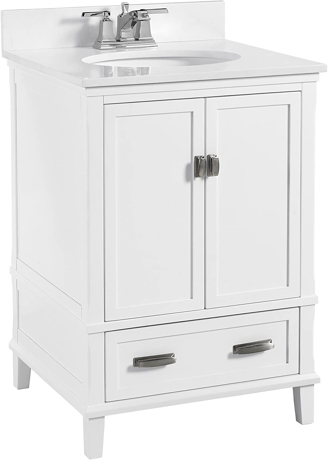 Amazon Com Dorel Living Otum 24 Bathroom Vanity White Furniture Decor