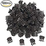 Huouo 100 Pcs Orchid Clips for Supporting Stems Vines Stalks to Grow Upright and Makes Flowers Plants Vegetables Healthier
