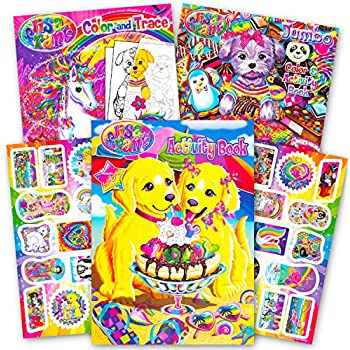 Amazon.com: Lisa Frank Coloring Book and Stickers Super Set (3 Books ...