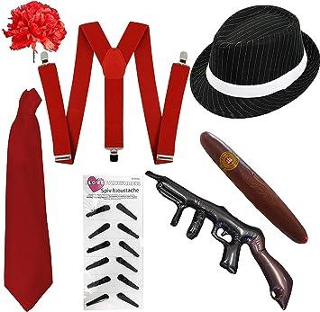 ILOVEFANCYDRESS Kit DE Disfraces DE AL Capone DE 7 Piezas para ...