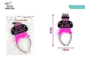 Paquete de 4 Bandas para la Cabeza con Pastel de cumpleaños ...