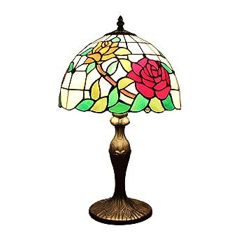 Moderne Minimaliste Fleur Pastorale Rose 12 Pouces Tiffany Lampe De