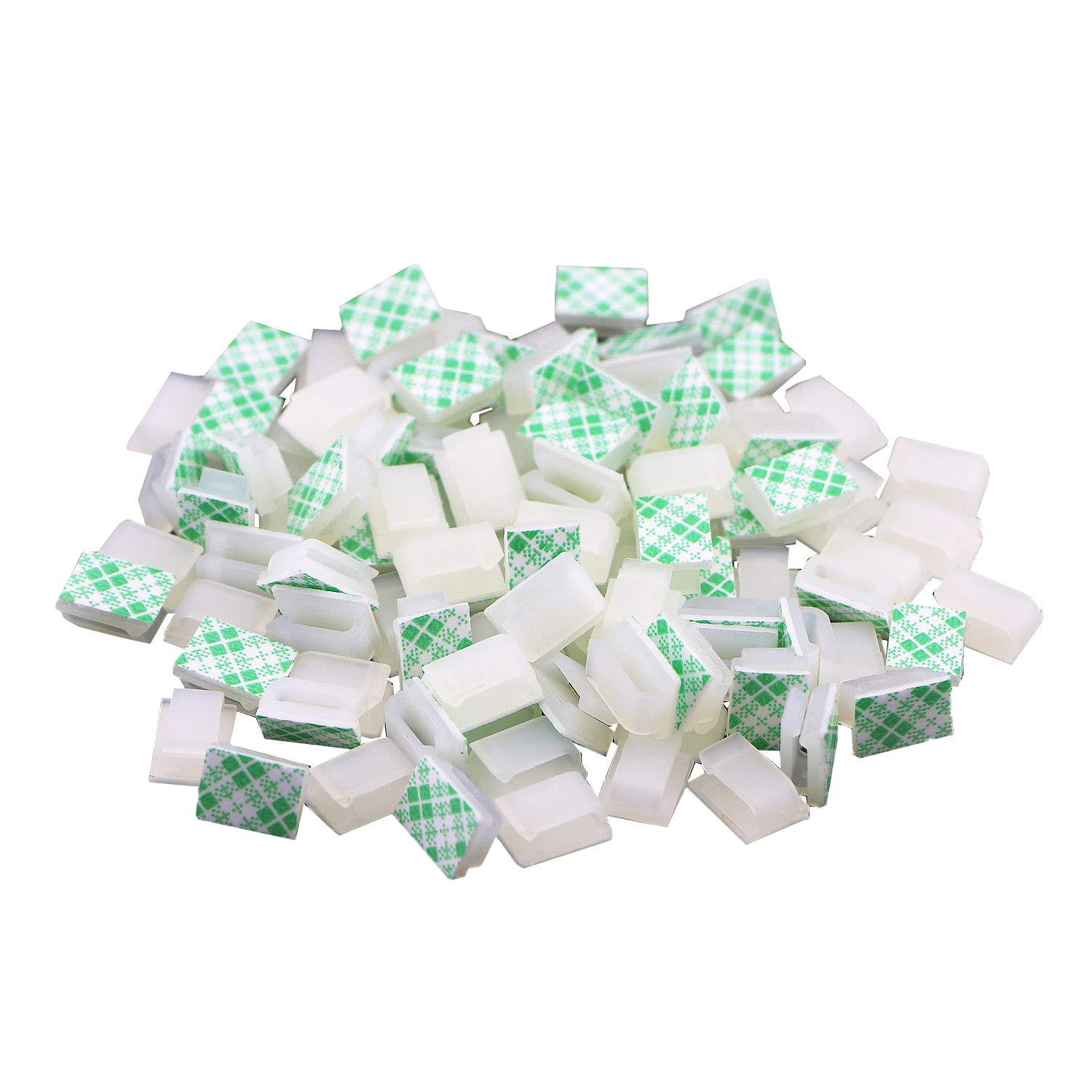 Pasow 100 PCS Self Adhesive Car Cable Tie Cable Clips Cable Drop Wire Holder Organizer 139.25.6 MM White
