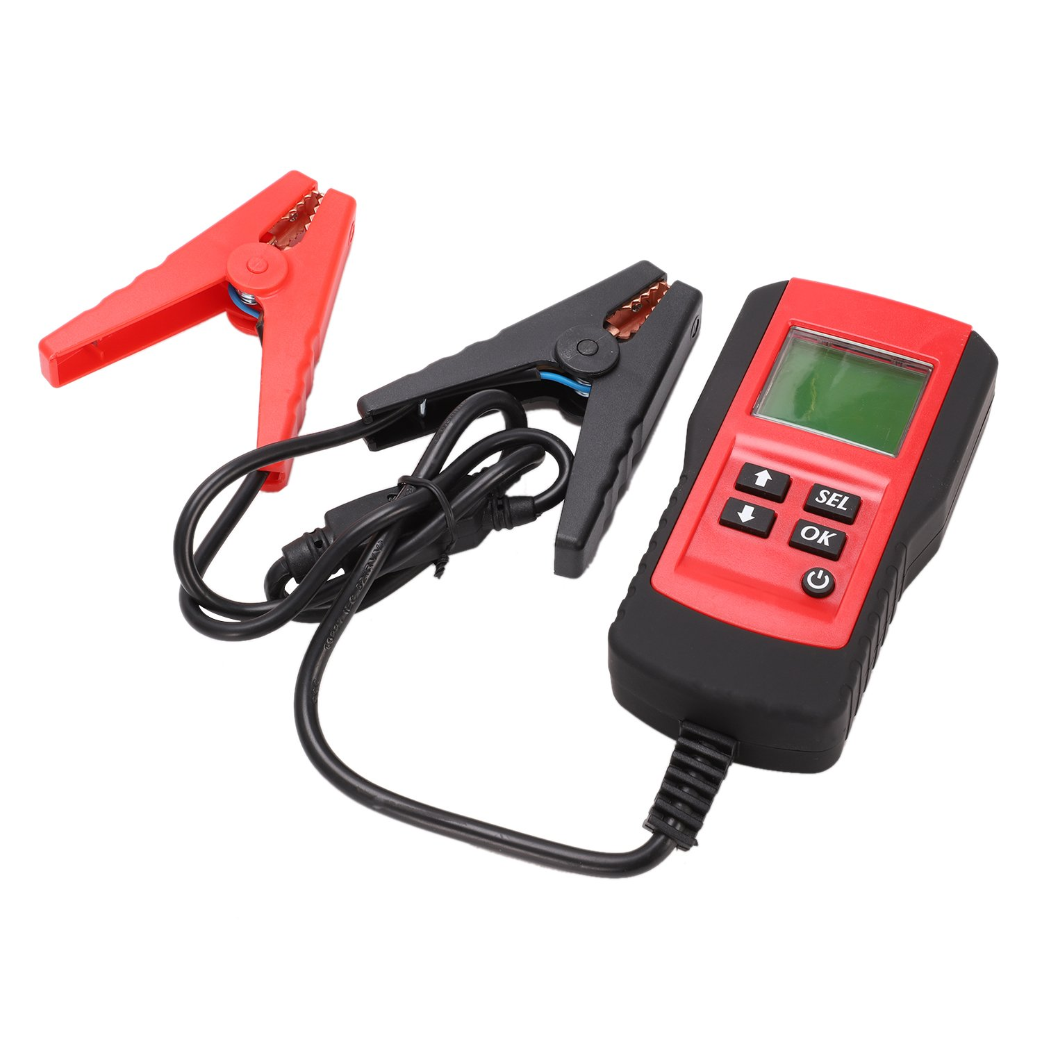 Toogoo Digital 12V Car Battery Tester Automotive Battery Load Tester and Analyzer Of Battery Life Percentage,Voltage, Resistance and CCA Value For Flood, Gel, AGM, Deep Cycle Battery Red