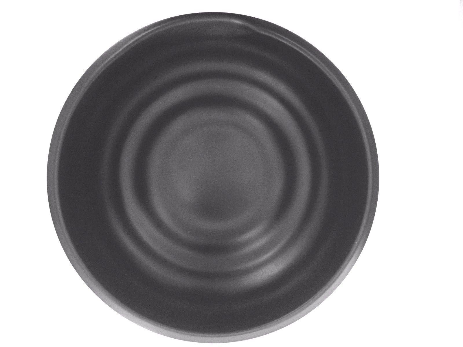 Lucky Star Melamine Round Bowls Ramen Pho Noodle Soup Wonton Soup Bowl, 8.75'' (56 oz), Black, Swirl Shaped (24) by Lucky Star (Image #1)
