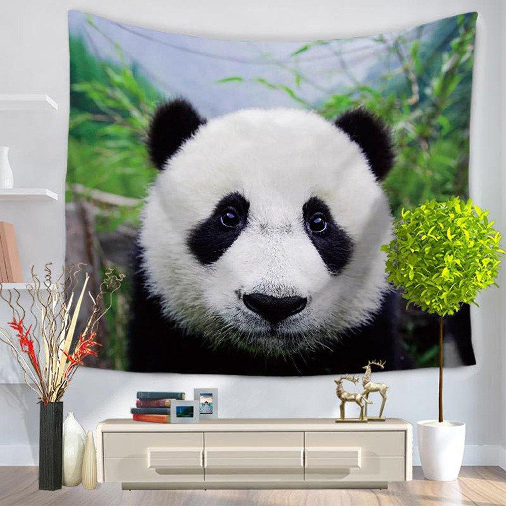 Kanpola Animal Panda Tapestry Wall Hanging Bohemian Bedspread Throw Dorm Decor Beach Blanket (One Size, Multicolor 001)