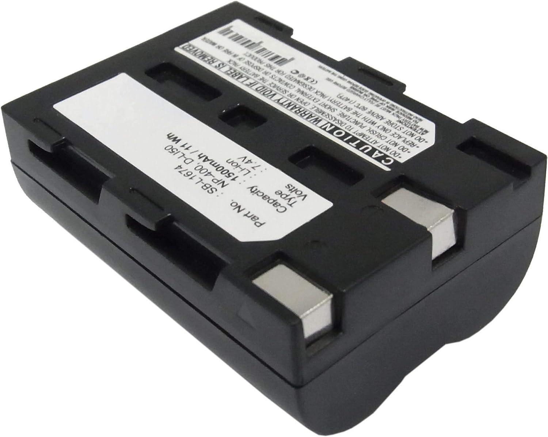 NP-400 1500mAh Accu de Rechange Remplacement subtel 2X Batterie Premium Compatible avec Konica Minolta Dynax 5D Dynax 7D DiMAGE A2 DiMAGE A1 Maxxum 7D Maxxum 5D