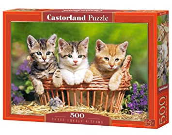 CASTORLAND Three Lovely Kittens 500 pcs Puzzle ...