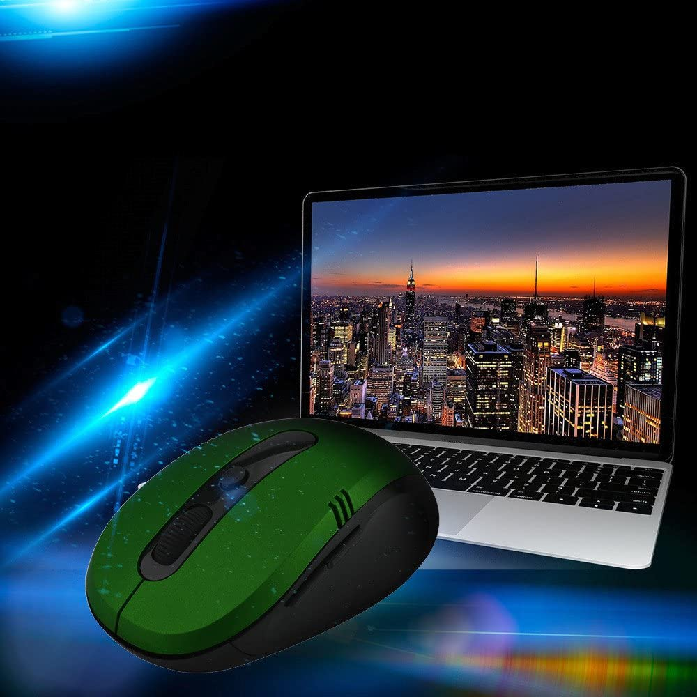 JF12 Wireless Mouse Cordless Optical Scroll 2.4GHZ Mouse PC Computer