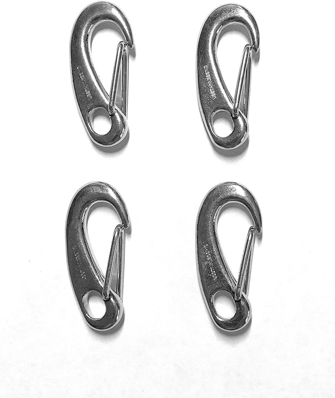 """4 Pieces Stainless Steel 316 Spring Snap Lobster Claw 1.25"""" (32mm) Marine Grade"""