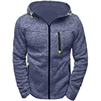 Timagebreze Jacquard Hoodie Fleece Vest Hooded Jas Heren Hoodies Sweatshirts Rits Hoody Sweatshirt Zwart Grijs S
