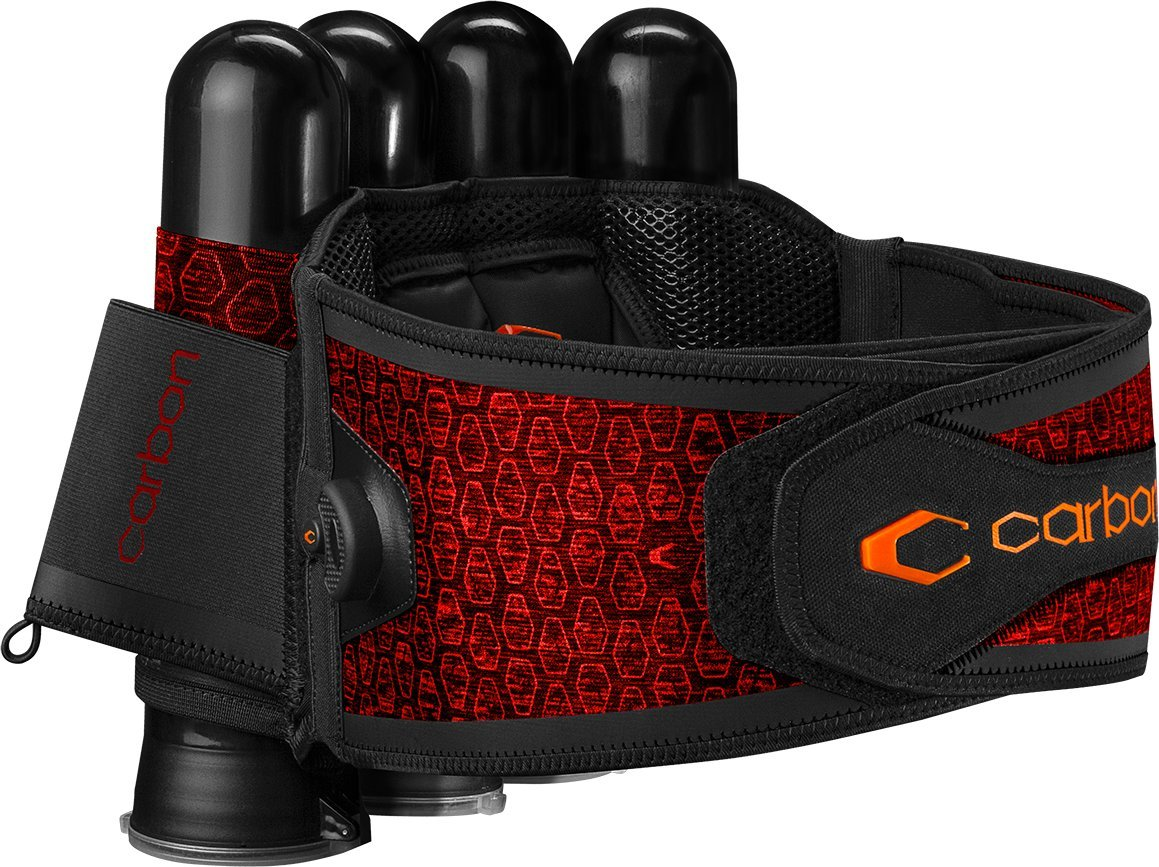 Carbon SC Harness Paintball 4-Pack Red by Carbon