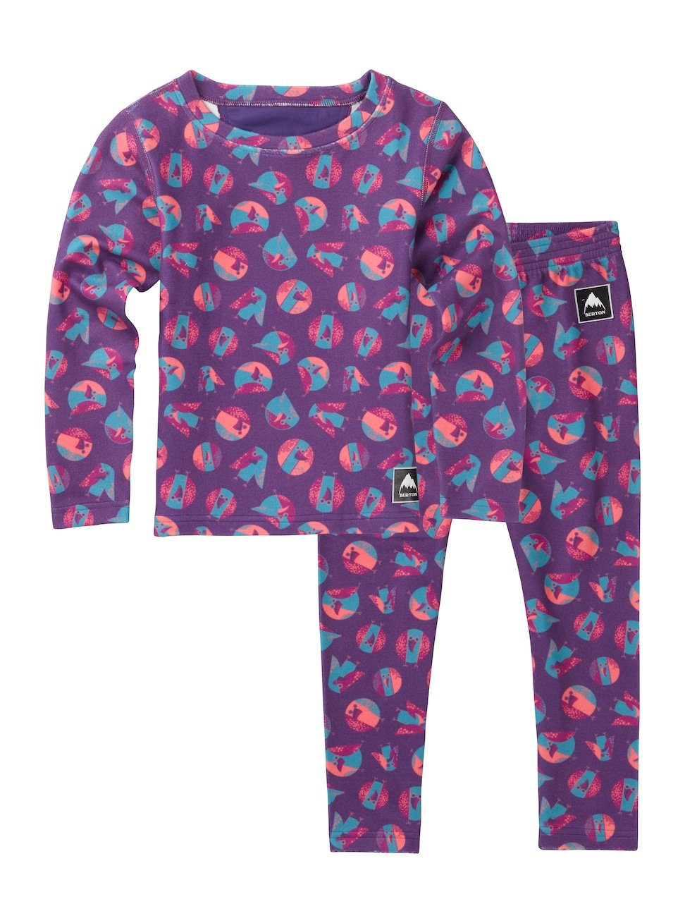 Burton Kids Minishred Fleece Top Set, Birds, 2T 132141