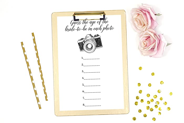 guess the age of the bride to be bridal shower game bachelorette