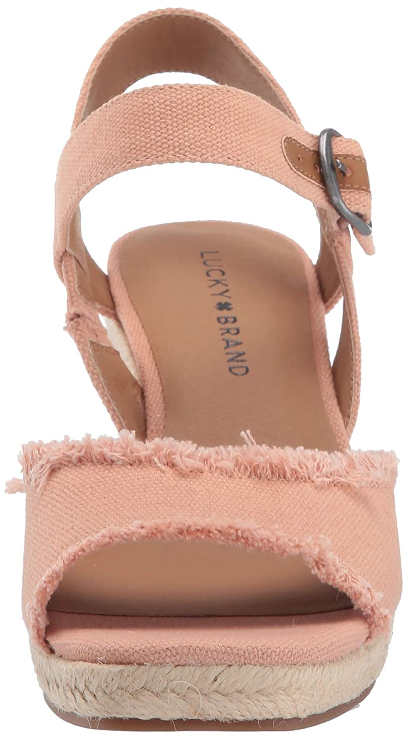 3285432a09564 Lucky Brand Womens Mindra Wedge Espadrille Wedge Sandal