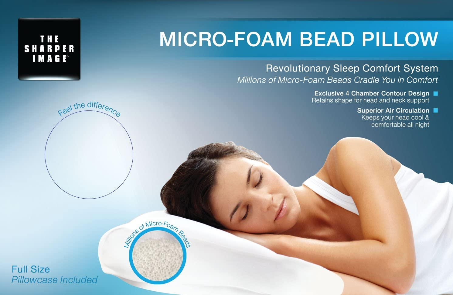 Micro Foam Bead Therapy Pillow Filled