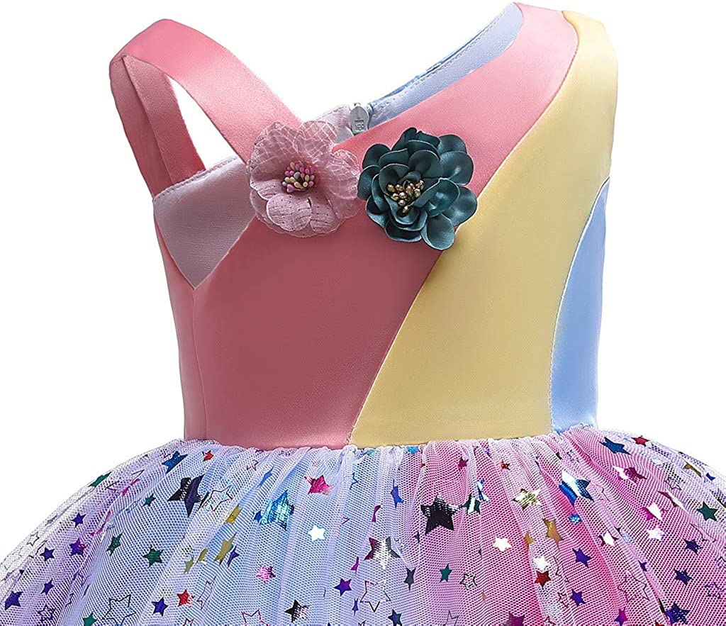 Keshiwo/_Childrens Floral Baby Girls Princess Bridesmaid Pageant Gown Birthday Party Wedding Dress