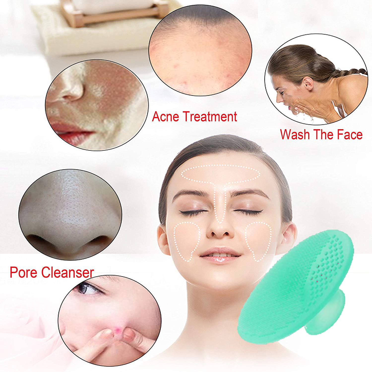 Facial Hair Removal for Women & Painless Peach Fuzz Nose Hair Trimmer Shaver Razor - 2 In 1 Electric Waterproof Hair Removal for Chin Cheek Arm Upper Lip Moustach