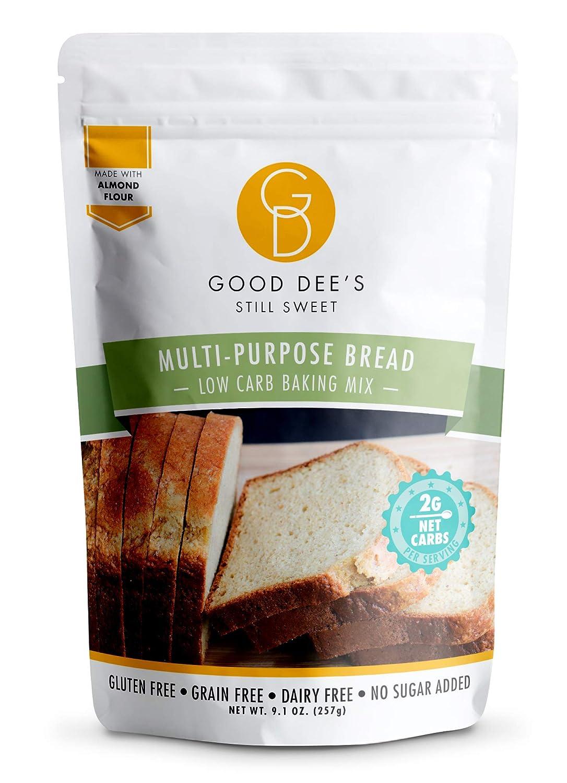 Good Dee's Multi Purpose Bread Mix – Low carb, Keto friendly, Sugar Free, Gluten free, Grain Free, Atkins friendly, Diabetic friendly, WW Friendly, 2g net carbs , 12 servings