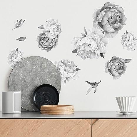 Floral wall mural 173 Dark blue garden rose wall sticker Dark blue garden rose wall covering Dark blue flower nursery wallpaper