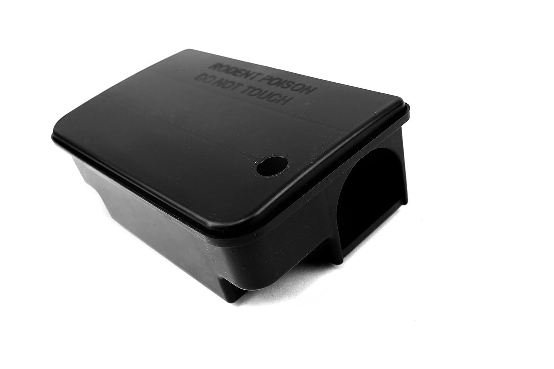 Ratox Ultrabox fertig beködert mit Vertox Brodifacoum- Rattengift (Block- oder Pasten-Köder) kompakte Mäuse-Falle und Ratten-Station zur Schädlings-Bekämpfung (20er Set, Brodifacoum-Köderblock)