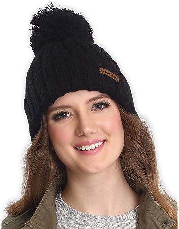 Brook + Bay Faux Fur Pom Pom Beanie - Stay Warm   Stylish with Thick 766a6c9d91