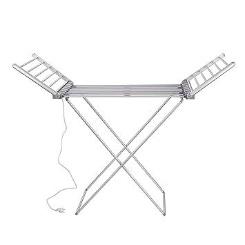VILSTEIN Tendedero Eléctrico, Estructura en Seco, Secador de Calzado, De Aluminio, Plegable