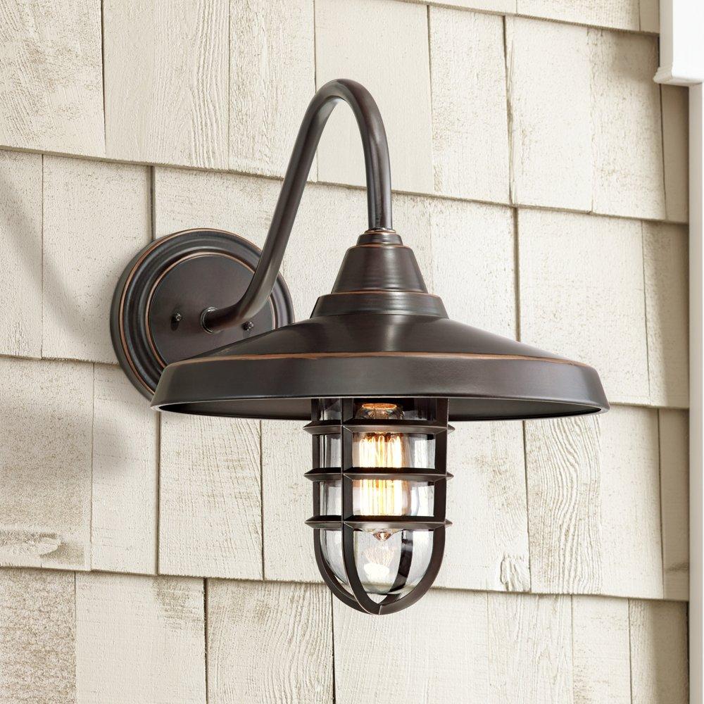 Nautical Outdoor Light Fixtures Marlowe bronze 16 34 high nautical outdoor wall light amazon workwithnaturefo