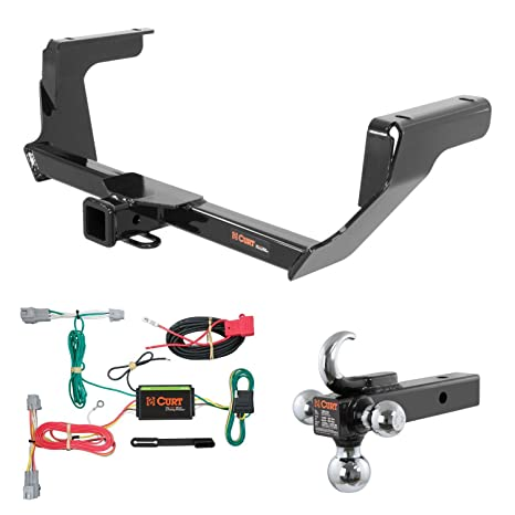 Amazon.com: CURT Trailer Tow Package w/ w/ Tow Hook Ball Mount for on