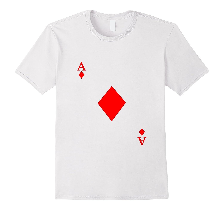 Ace of Diamonds T-Shirt Halloween Costume Wonderland-CL