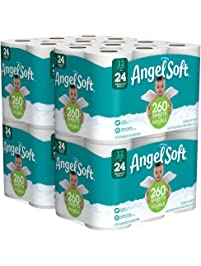 Angel Soft 2 Ply Toilet Paper, 48 Double Bath Tissue (Pack of 4 with 12 rolls each)
